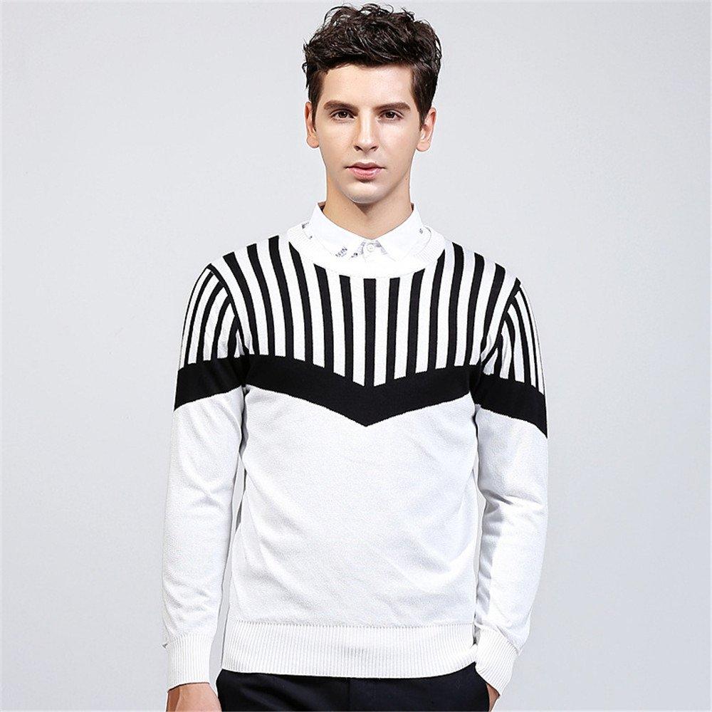 Jdfosvm männer - Pullover Winter männer Pullover Pullover Young British Style,weiße,XXL