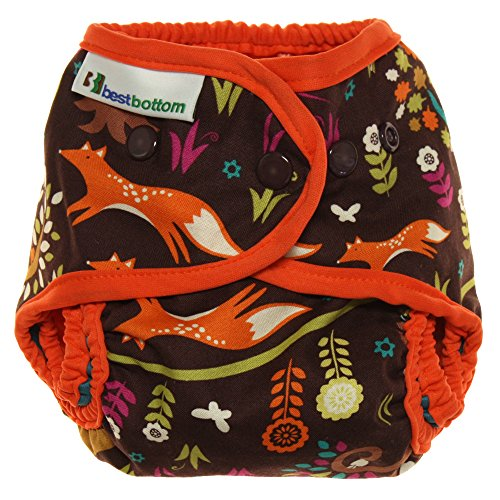 Best Bottom Snap Cotton Diaper, Jewel Woods