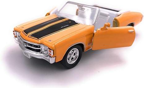 H Customs 1971 Chevelle Ss 454 Modellauto Auto Lizenzprodukt 1 34 1 39 Gelb Auto