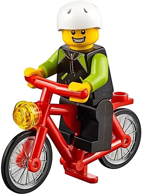 Lego MOTORCYCLE for Minifigures to Ride ORANGE City Town