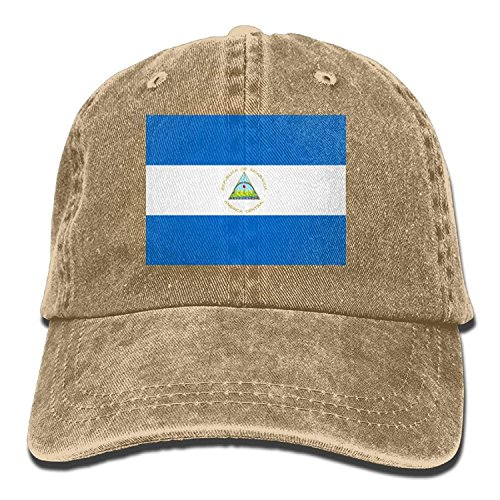 Men Denim longkouishilong Hat Outdoor Cap Nicaragua Cowboy of For Flag Dad Adult and Sports Baseball Women Unisex XFwF6Hx