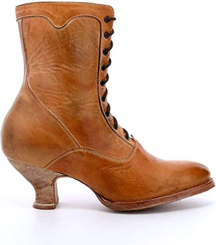 Womens Heels Oak Tree Farms Handcrafted Full Lace Up Vintage Winter Boots Shoes