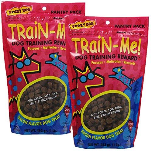 Crazy Dog Train-Me! Training Reward Dog Treats 16 oz., Bacon Regular, 2 Pack