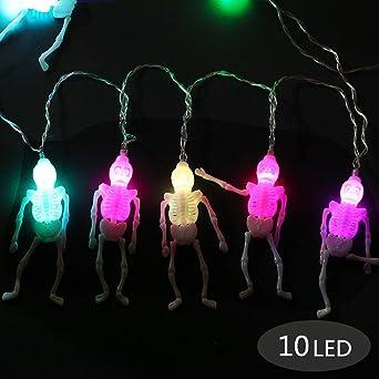 Halloween Deko Licht Morbuy 10 Led Schadel Lichterkette Gruselige