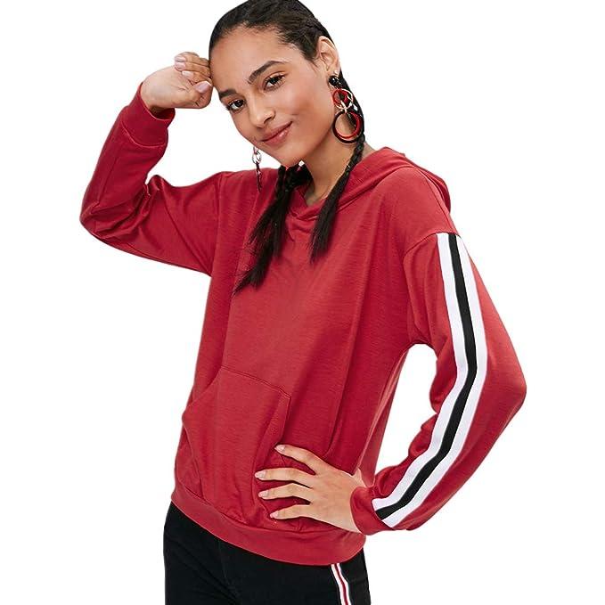 Amazon.com: PASSOSIE 2018 - Sudadera con capucha para mujer ...