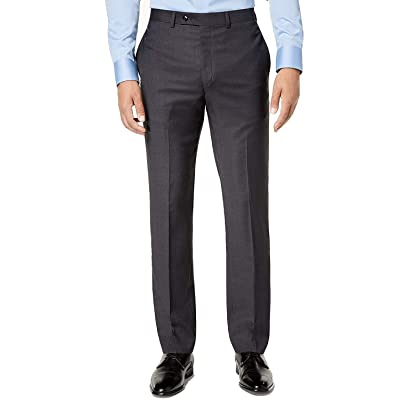 Calvin Klein Men's Slim-Fit Gray/Blue Plaid Suit Pants Gray 30X32 at Amazon Men's Clothing store