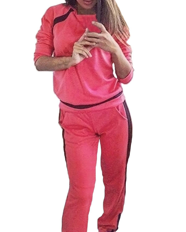 ZANZEA Yoga Sport Traje Chándal para casa (Fitness Suit Pantalón ...