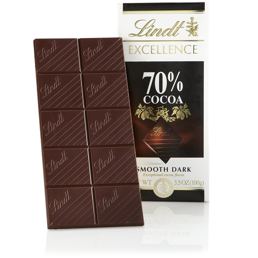 Lindt Excellence Bar, 70% Cocoa Smooth Dark Chocolate, Gluten-Free, 3.5 Ounce (Pack of 12)