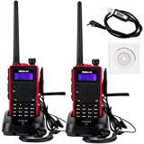 Retevis RT5 2 Way Radio7W Dual Band VHF/ UHF 136-174/400-520 MHz 128 CH VOX FM Ham Radio Transceiver (2 Pack) and Programming Cable