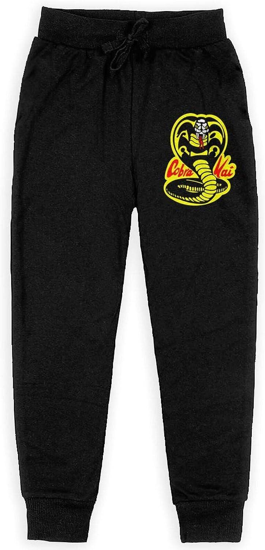 Cobra Kai Logo Pants Teenage Sweatpants Schoolboy Casual Jogger Sweatpants: Clothing