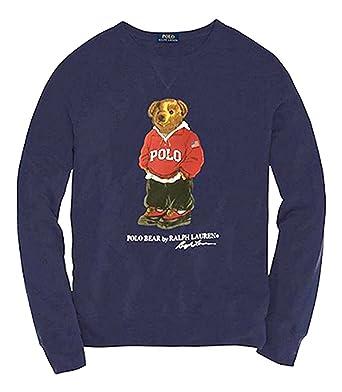 f2ffb490 Ralph Lauren 962 XL Bear Navy Crew Sweatshirt (XX-Large, Navy) at Amazon  Men's Clothing store: