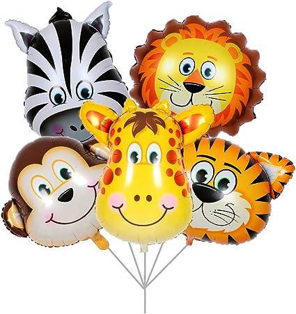 Amazon.com: Balonar 5 globos de lámina de león de tigre con ...