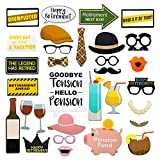 Retirement Party Photo Booth Props, Selfie Props - 31 Pieces