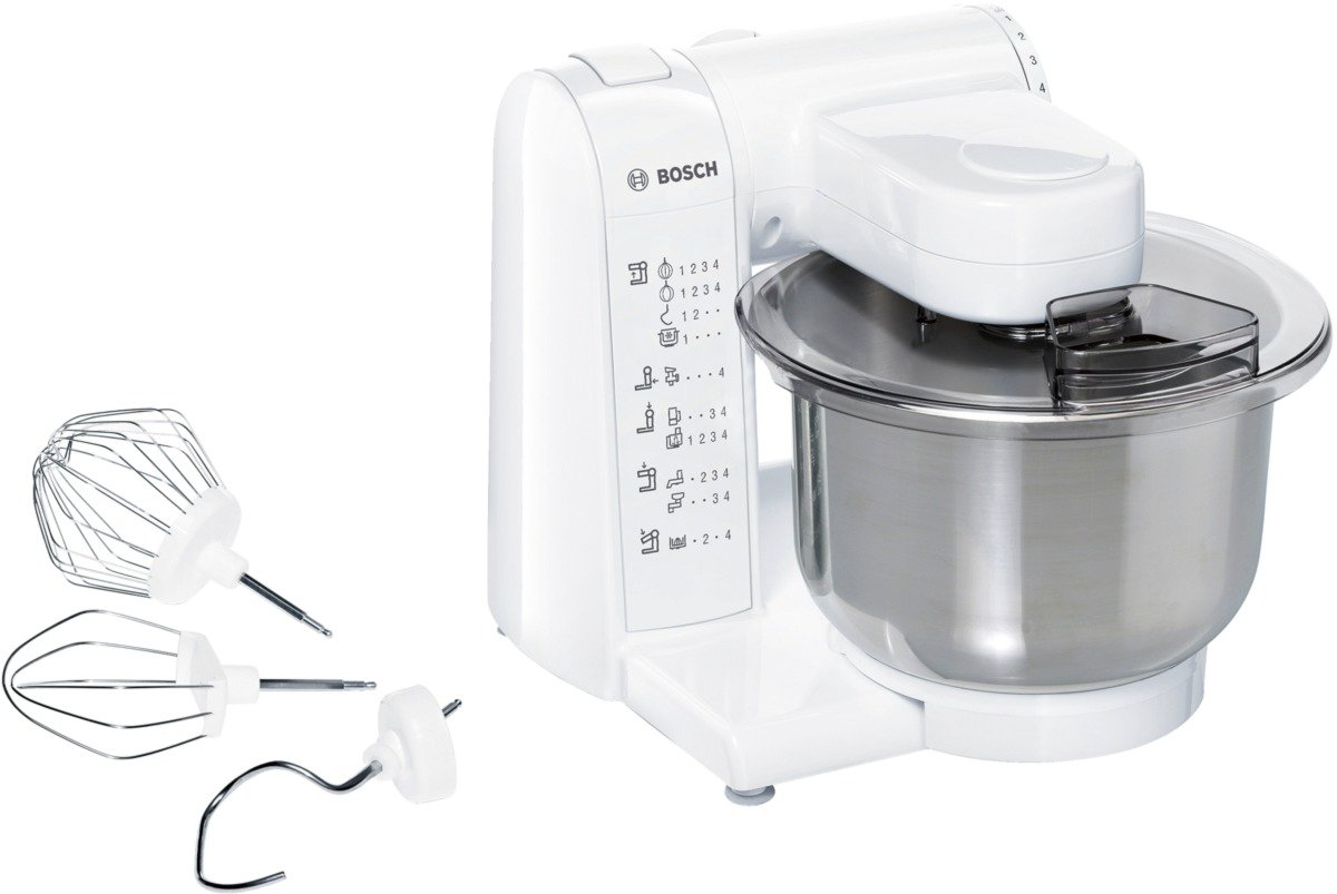 Bosch MUM4807GB Kitchen Machine, 600 W - 3.9 L, White/Stainless ...