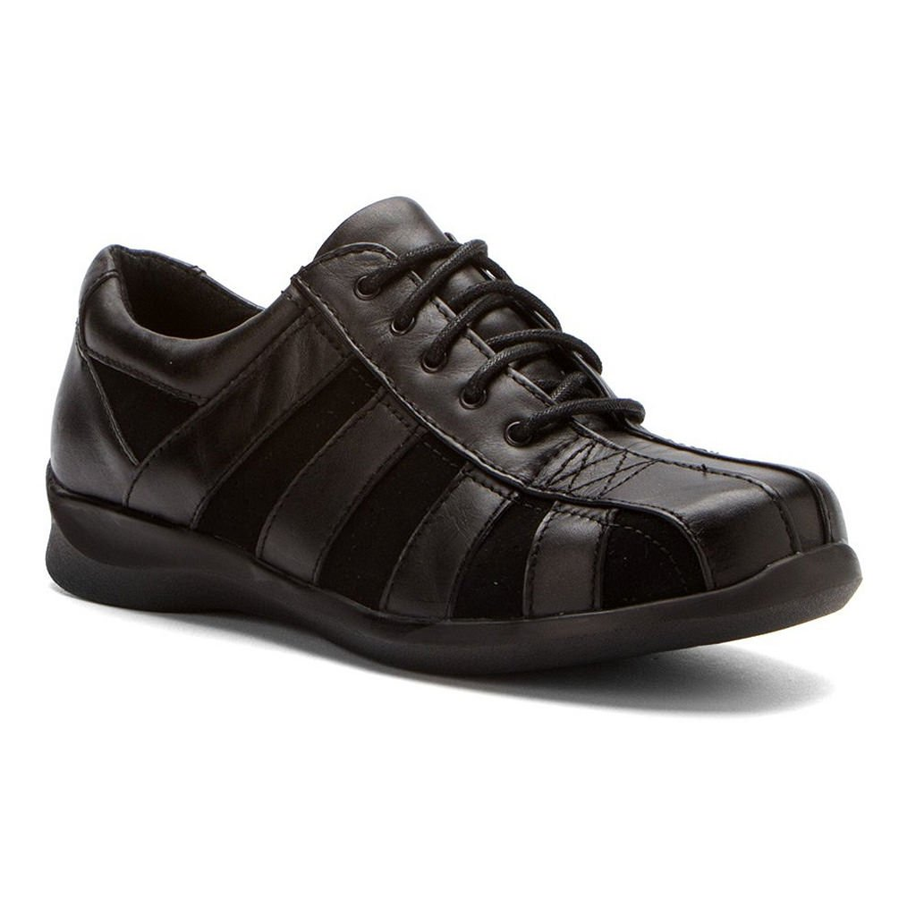 Apex Women's Eliza Lace-Up Black Leather/Suede 13 XW