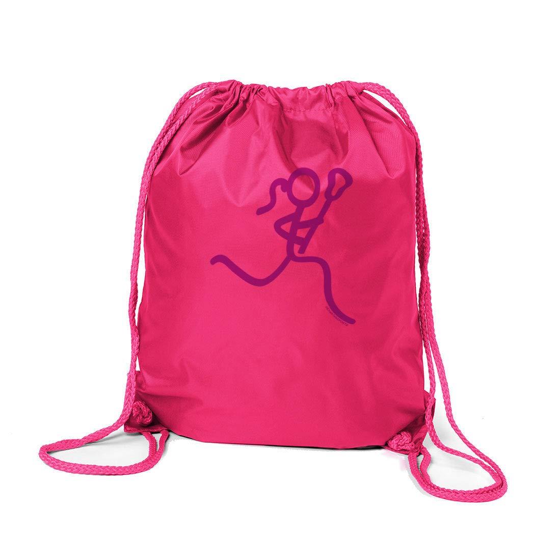 ChalkTalkSPORTS Girls Lacrosse Sport Pack Cinch Sack | Neon Lax Girl | Pink