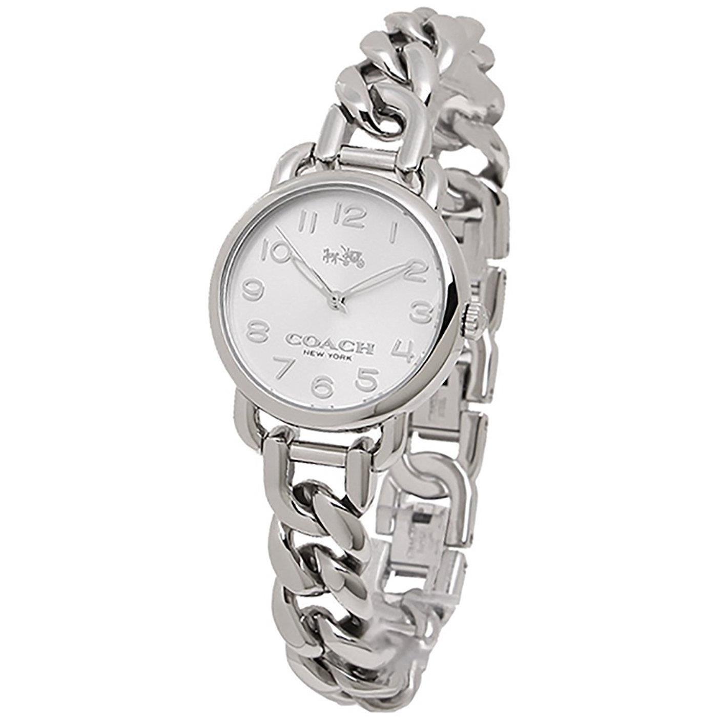 COACH Womens Delancey 28mm Chain Link Bracelet Watch