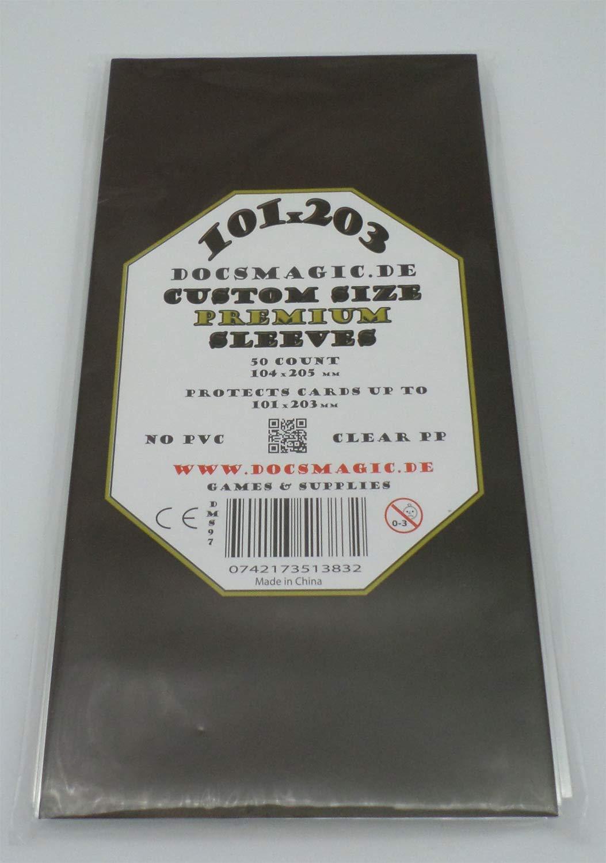docsmagic.de 50 Premium Custom Size Board Game Sleeves - 101 x 203 - 104 x 205 - Kingdom Death
