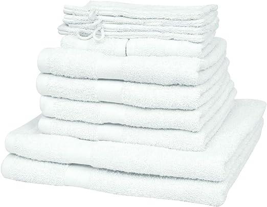 FZYHFA Set de 12 Toallas Blancas de 100% Algodón 500gr/m²,Toalla ...