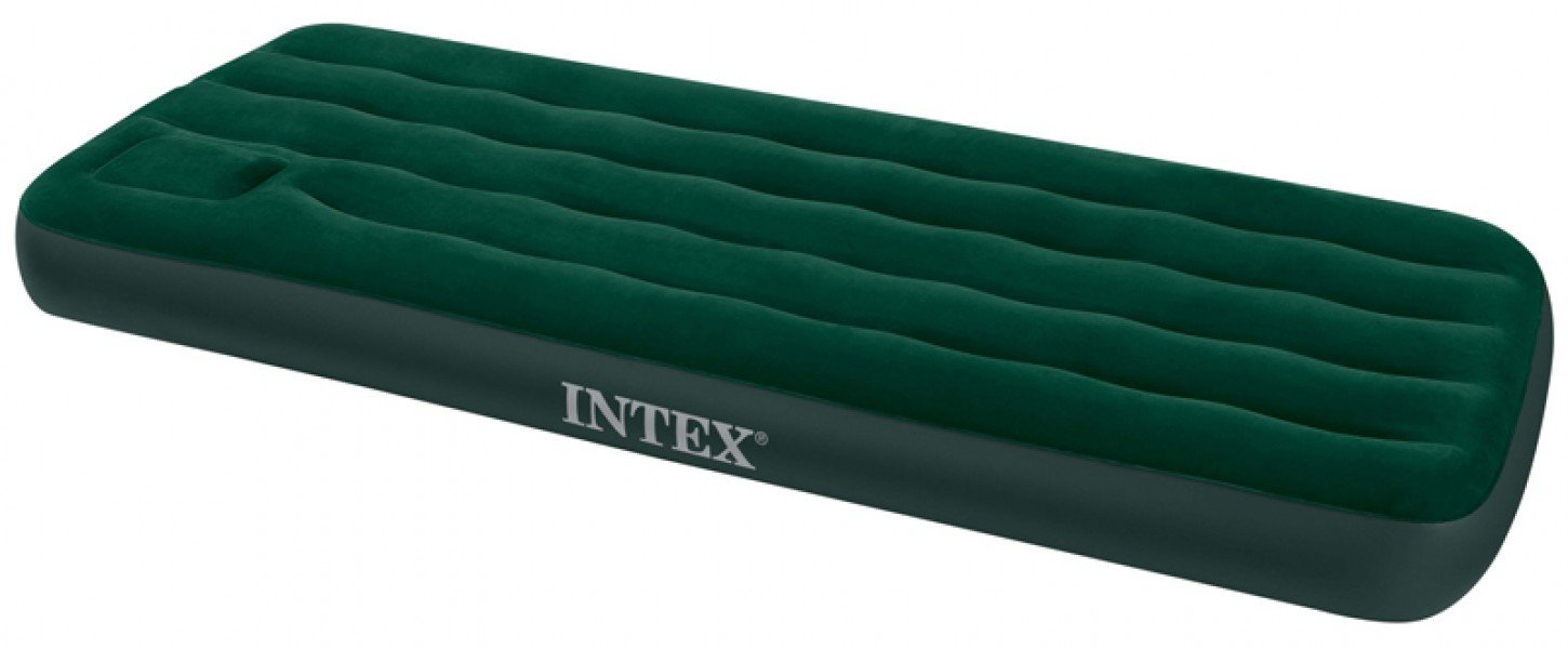 Intex Junior Single Size Downy Airbed with Built-in Foot Pump 66950