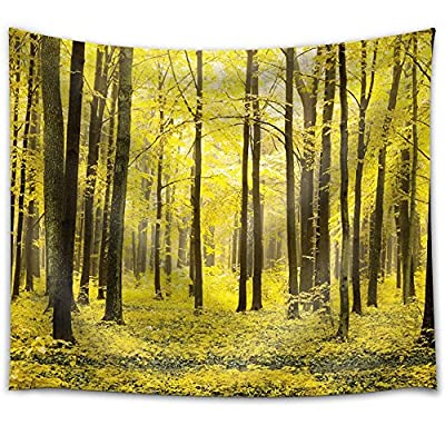 Incredible Print, Yellow Tree Forest on a Yellow Field, Made With Top Quality