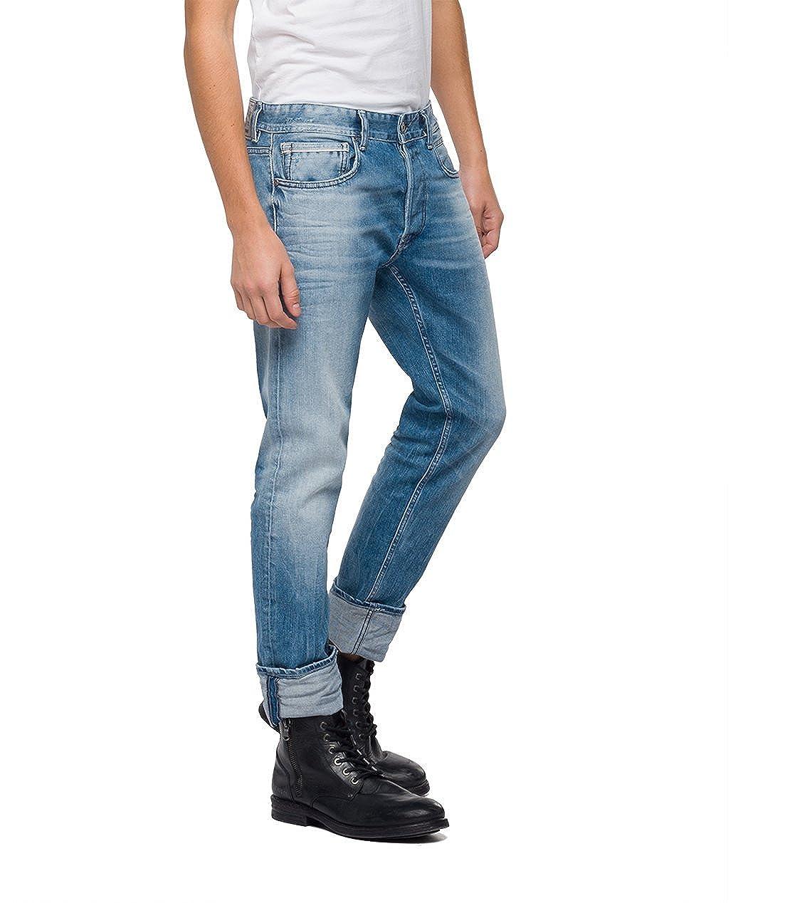 Replay Mens Grover Slim Jeans