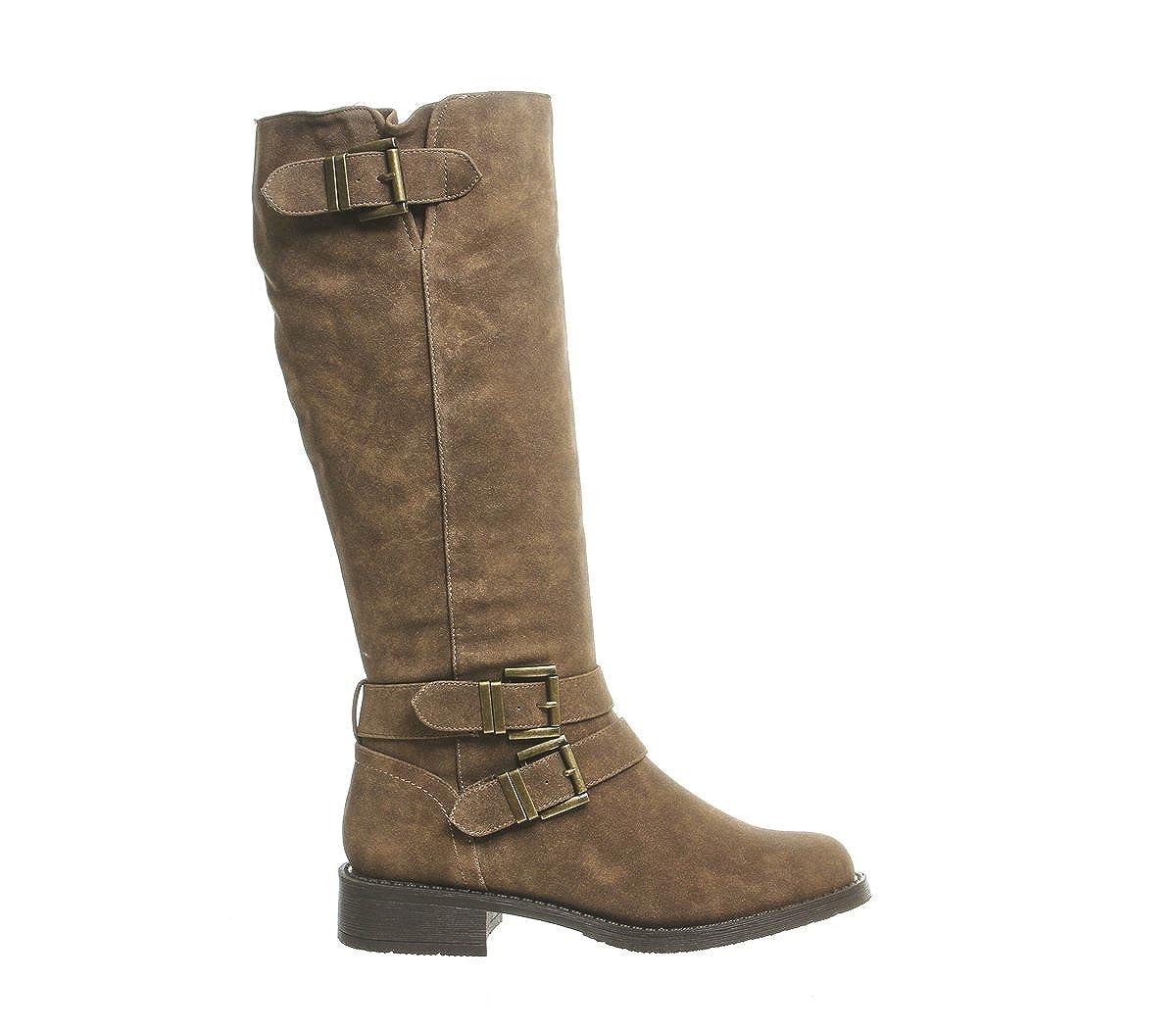 1f958ce994 Office Kiddo Buckle Biker Boot Brown Fur Lined - 4 UK  Amazon.co.uk  Shoes    Bags