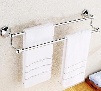 ZXY Moderno aleación Zinc Doble Toalla Bar Monte baño Accesorios baño Almacenamiento organización baño estantes casa decoración Toalla Titular baño Estante ...