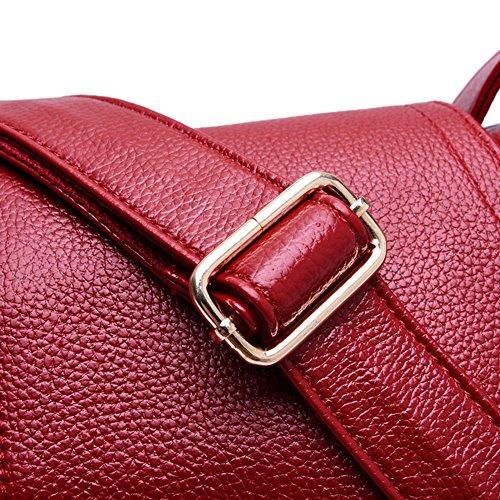 Salvaje Sencillo Bolsos Bolsas Niñas Rojo Bandolera Retro Moda Patrón Lichi Bolso Para nuevo Bandolera rojo fZvYxqIw