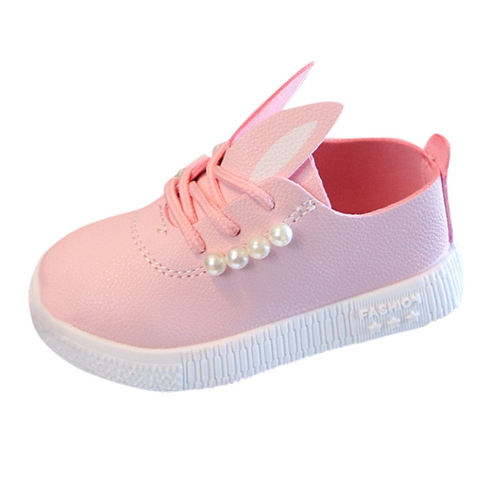 1-6 Years Old Kids Shoes, LILICAT Lovely Children Toddler Baby Pearls Sneaker Girls Cartoon Soft Anti-Slip Single Shoes Casual Shoes First Walkers