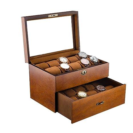 Cajas para Relojes de Madera con 20 Compartimentos Estuche ...