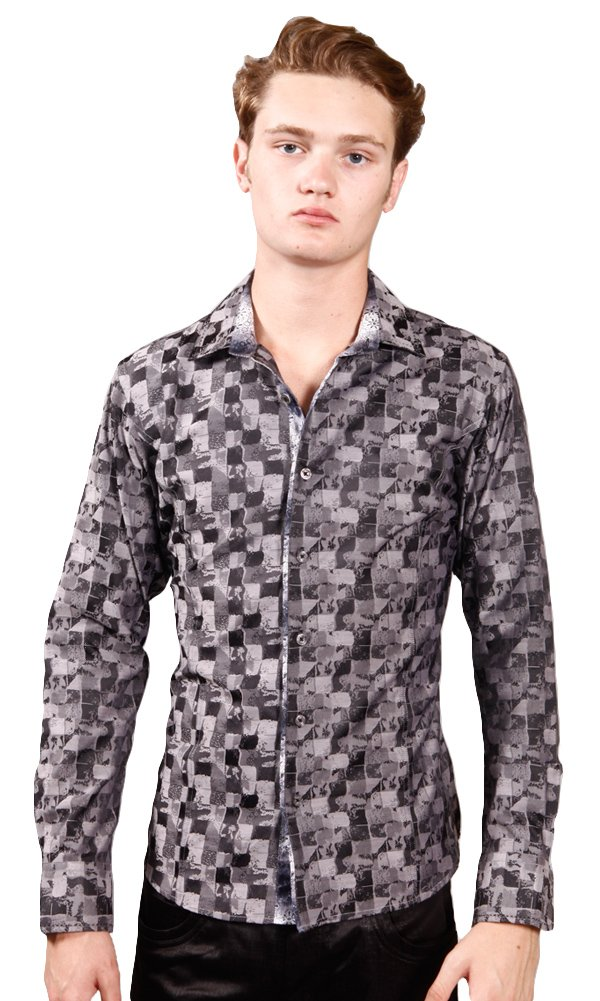 Barabas Men's ''Stained Glass'' Button Down Shirt XX Large by Barabas