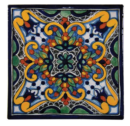 Hand-painted Talavera Mexican Tile 6