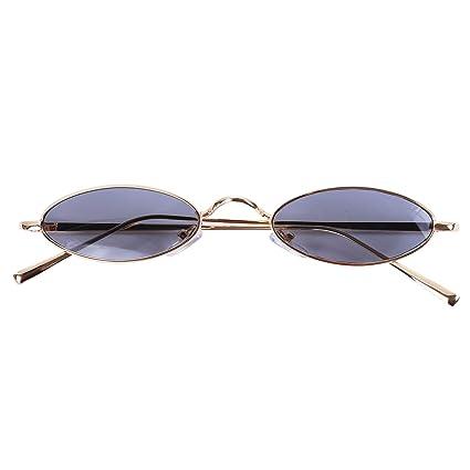 SODIAL Gafas de sol redondas pequenas Mujeres Gafas de sol ...