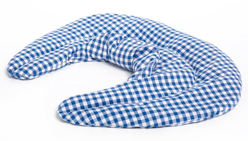 Kirschkernkissen Nackenkissen W/ärmekissen Ein sehr wohliger Nackenw/ärmer Nackenh/örnchen mit Stehkragen blau-wei/ß