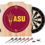 Arizona State University Deluxe Solid Wood Cabinet Complete Dart Set - Officially Licensed!