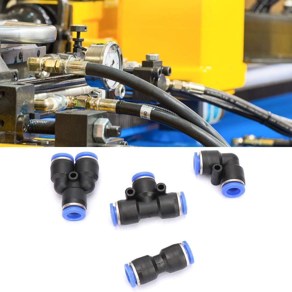 0.9MPA-99.99MPA pour tuyaux en PU et tubes en nylon 40Pcs connecteur pneumatique PU8 PV8 PE8 PY8 raccords rapides en plastique