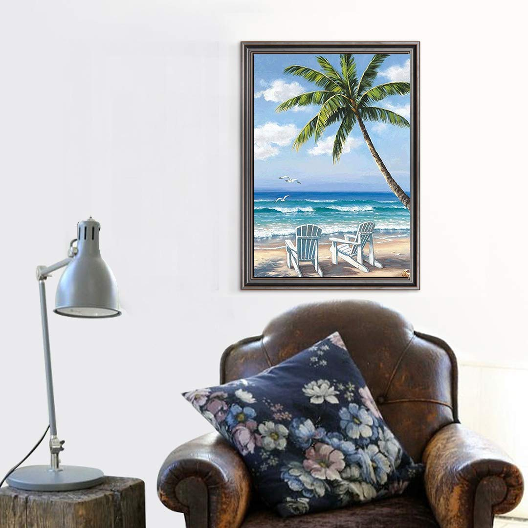 Diamond Painting Kits for Adults Kids 5D DIY Coconut Tree /& Beach Diamond Art Accessories with Full Drill Dotz for Home Wall Decor 11.8/×15.7Inches