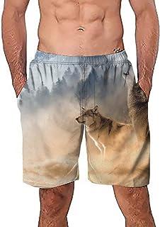 Pantalones Cortos Playa para Hombre Moda Estampado Sueltos Casuales Cómoda Cintura Elástica Verano para Hombres Deportivo Casual Jogging Cortos de Verano MMUJERY