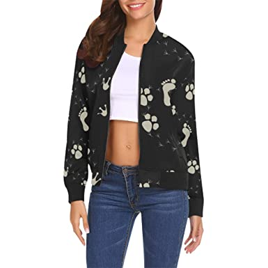 INTERESTPRINT Womens Lightweight Bomber Jackets and Coats