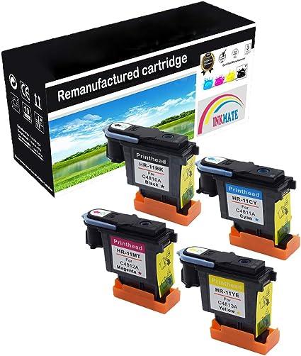 INKMAKE 11 Cabezales de impresión remanufacturados para HP 11 ...
