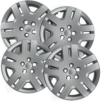 Tapacubos para Dodge Avenger (Pack de 4, 5 radios de rueda cubre - 15 pulgadas) cromado: Amazon.es: Coche y moto