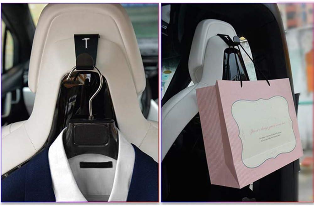 S//X Fanuse 2 X Supporto per Gancio per Poggiatesta per Seggiolino Auto Adatto per Tesla Modello 3