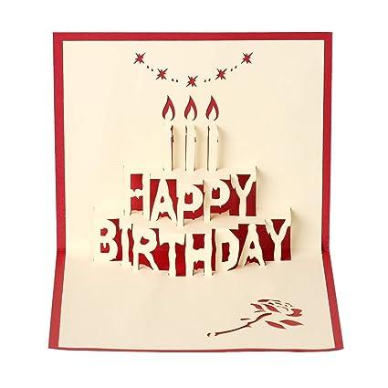Tarjeta de felicitación de cumpleaños en 3D, el mejor regalo ...