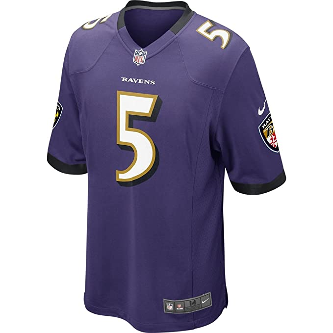 ba2df952 Amazon.com : Nike Baltimore Ravens Joe Flacco Jersey - Purple : Clothing