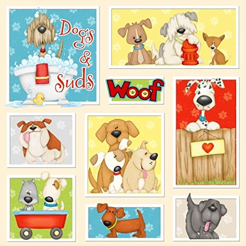 - HENRY GLASS & CO. Dogs and Suds Quilt Fabric 36