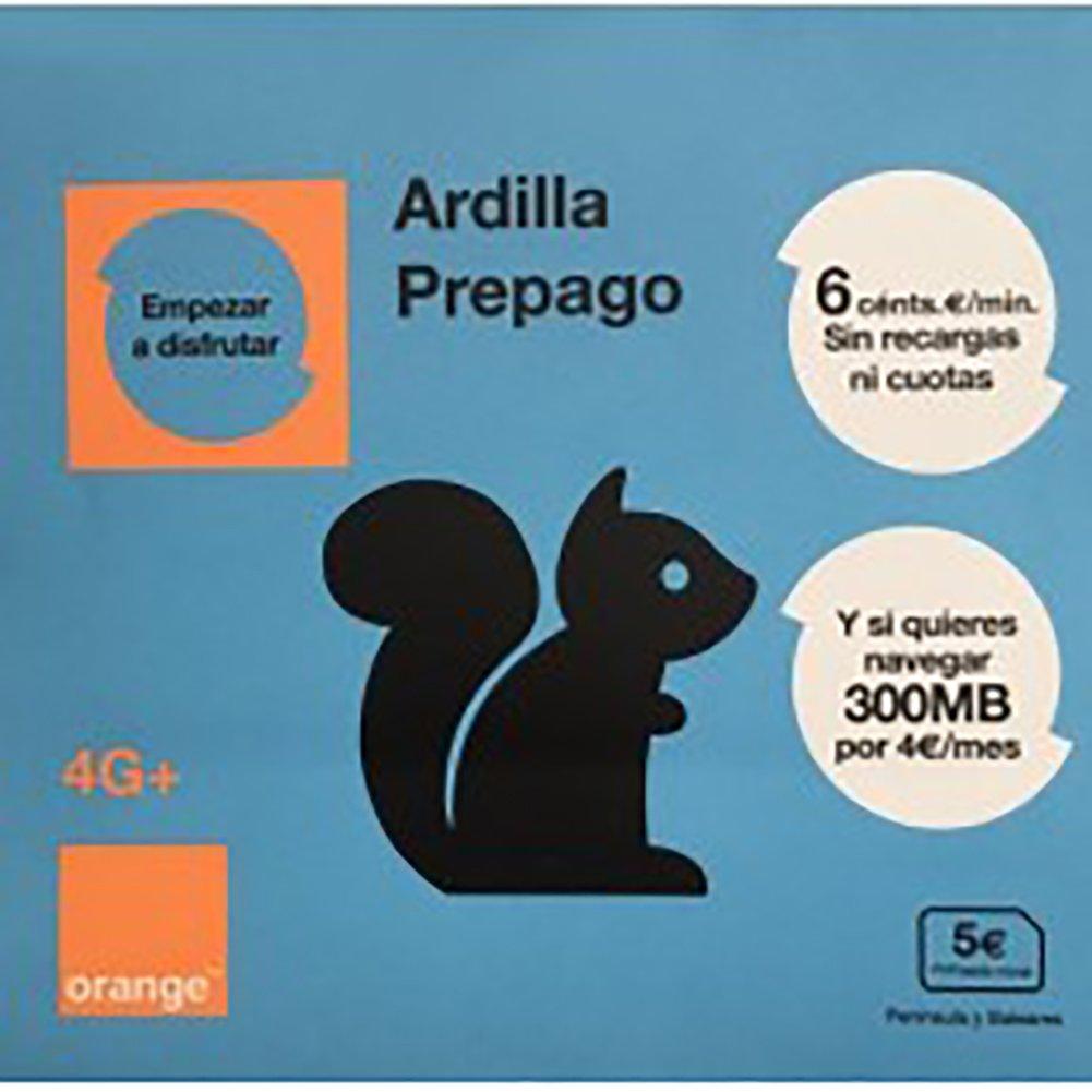 Tarjeta SIM ORANGE Ardilla / 5€ / PREPAGO / NUMERO NUEVO ...