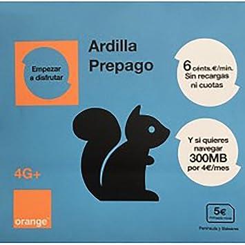 Tarjeta SIM ORANGE Ardilla / 5€ / PREPAGO / NUMERO NUEVO: Amazon ...