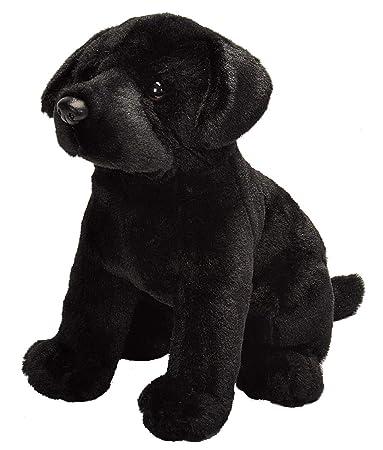 E-Chariot Soft Toys Sitting Black Lab Plush Stuffed Animal Cuddlekins by Wild Republic (20354) 12 Inches
