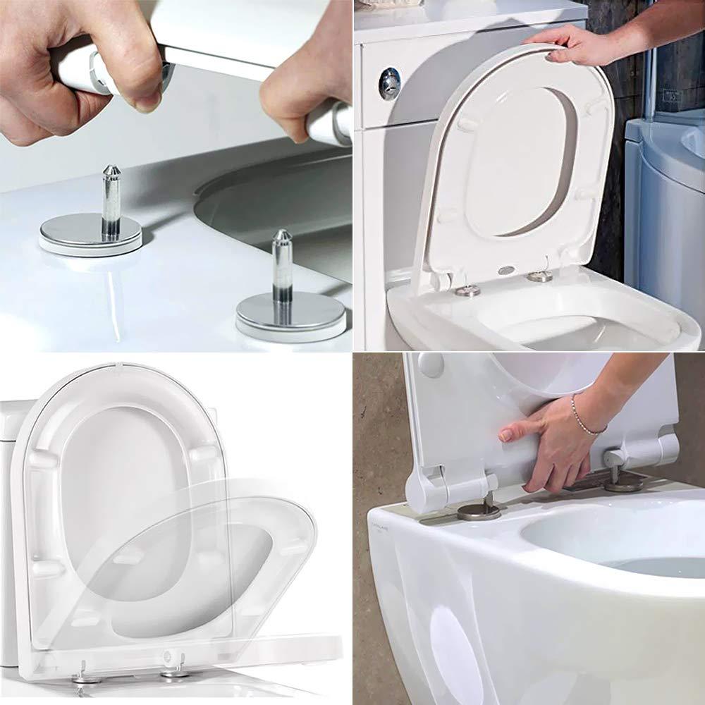 JJOnlineStore/ /1/Paire de haute qualit/é Top Fix Abattant de toilettes /à charni/ère Fixations Charni/ères /à d/égagement rapide de bureau /à domicile Comptoir